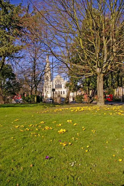 Library Green with Trinity Church, Enfield