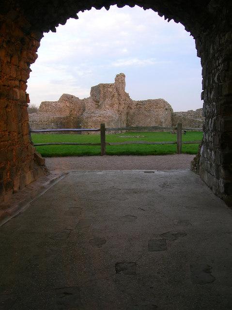 Inside the Keep, Pevensey Castle