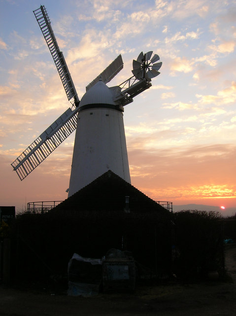 Stone Cross Windmill at Sunset