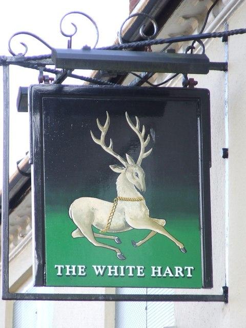 The White Hart pub sign