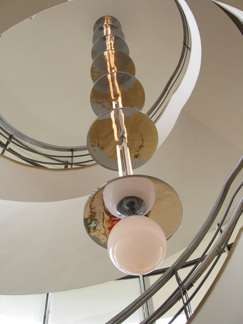 Stair light in the De La Warr Pavilion