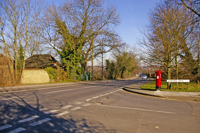 Junction of Lowther Drive with the Enfield Road, Enfield EN2