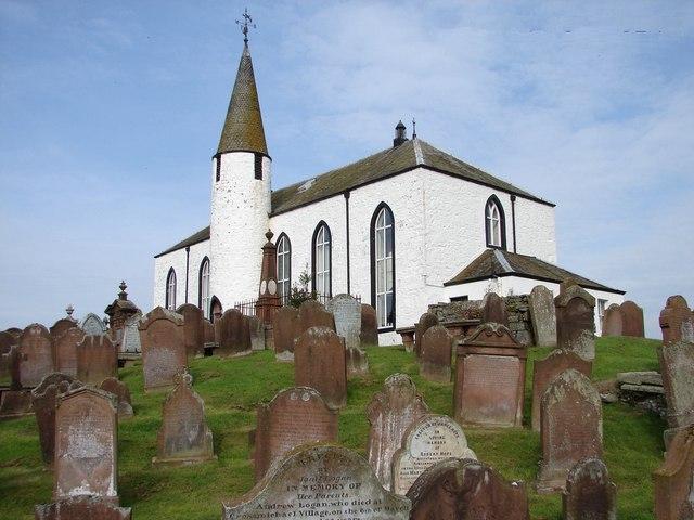 Crossmichael Church & graveyard