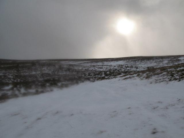 The sun shines on Black Hill