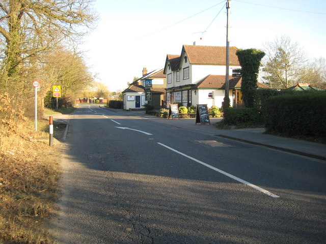 Willey Green: A323 Guildford Road & The Duke of Normandy PH