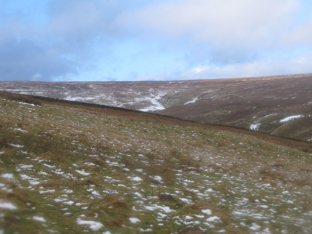 Moorland around the cleugh of Middlehope Burn