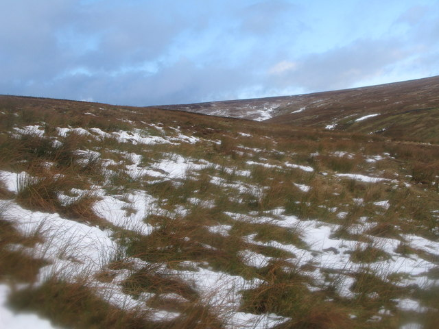 Moorland below Yearncleugh Head
