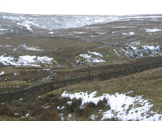 The valley of Middlehope Burn and Yearn Cleugh
