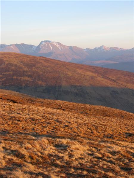 Ben Nevis from SE Ridge of Meall Onfhaidh