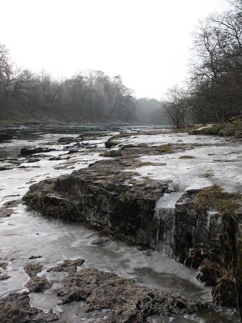 Ice on limestone