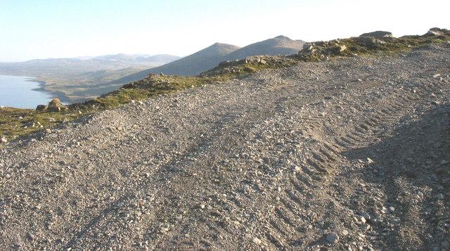 Bend on quarry roadway