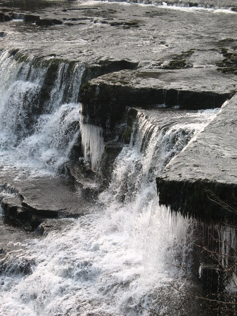 Tumbling water & dripping icicles