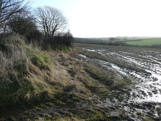 Wet fields south of Biteford