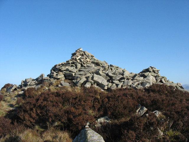 Below the main cairn of Mynydd y Gwaith