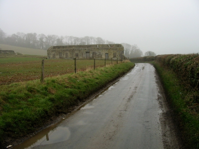 Derelict farm building on the road to Priston Mill
