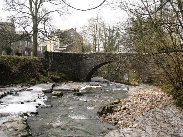 Stone footbridge over Walden Beck