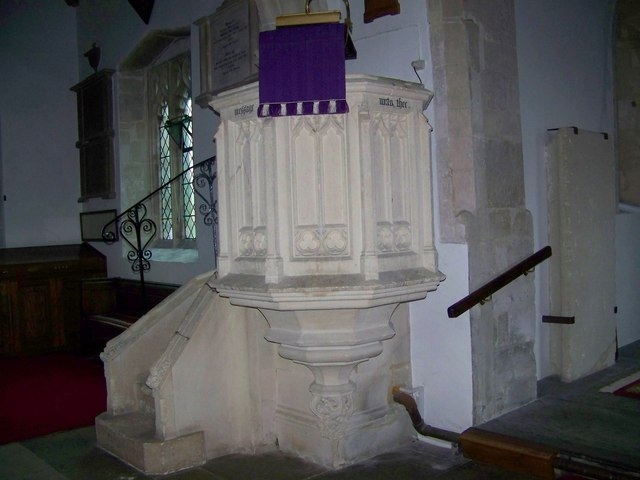 Pulpit, St Michael and All Angels, Coombe Bissett