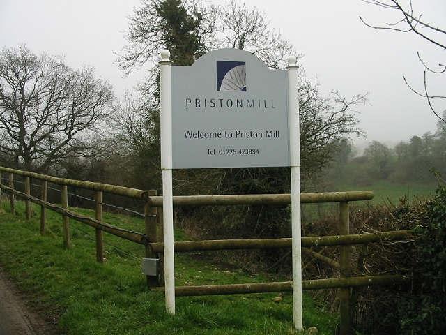 Sign for Priston Mill