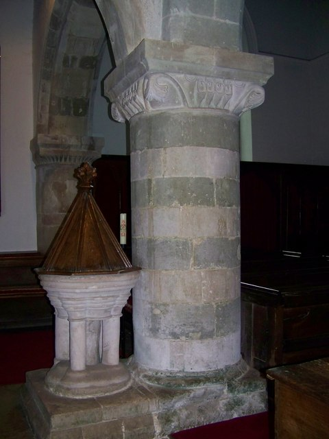 Column, St Michael and All Angels, Coombe Bissett