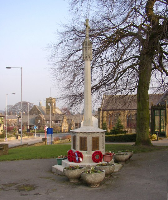 War Memorial, Main Street, Burley in Wharfedale