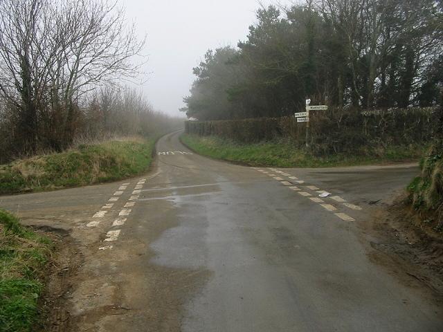 Crossroads between Wilmington and Stanton Prior