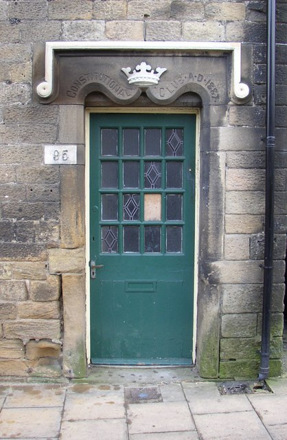 Side door to the Queen's Head, Main Street, Burley in Wharfedale