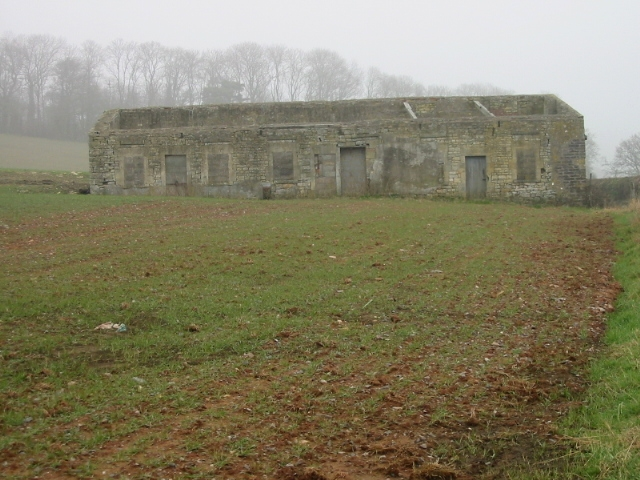 Roofless farm building on Pendown Hill