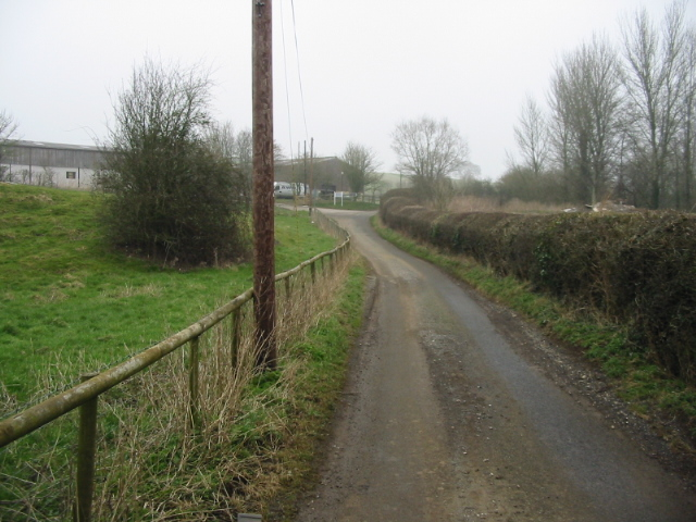 Looking N along Mill Lane