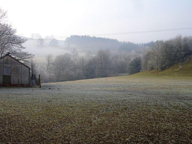 Frosty morning at Dolarddyn