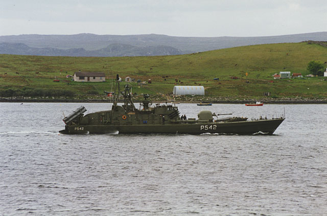 Naval craft on exercise, Aultbea