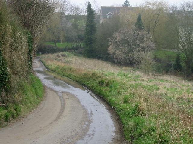 View along Washpool Lane towards Englishcombe