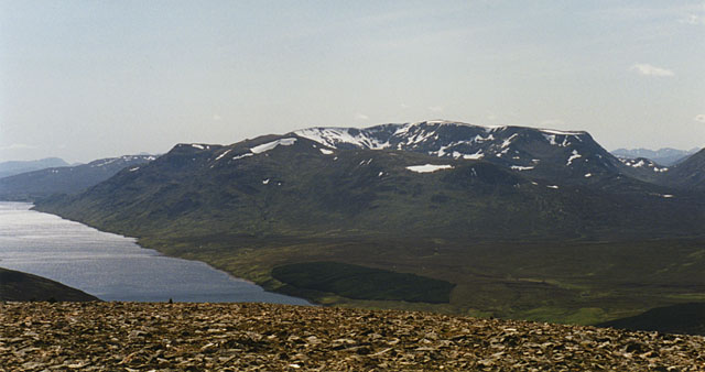 View southwest from Geal Charn