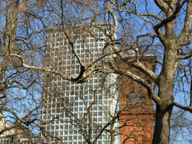 Towers overlooking Soho Square