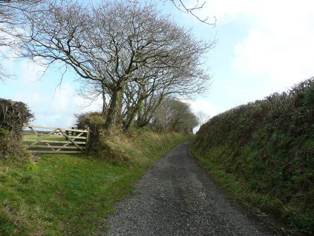 Deep-set lane