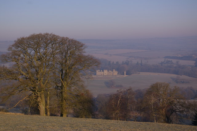 Looking from the Bringewood ridge towards Downton Castle