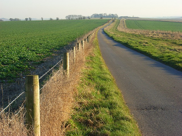 Farm road approaching Sheepdrove Farm