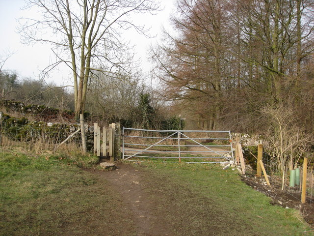 Footpath crossing Coalpit Lane