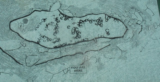 A plan of Tre'r Ceiri hill fort