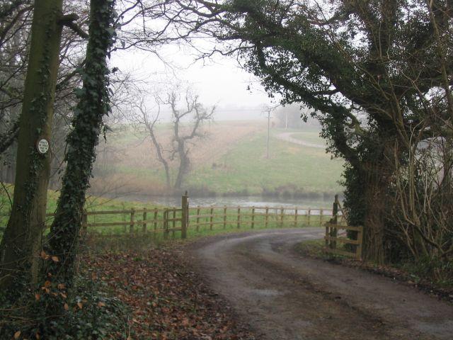 Back entrance to Hyde Farm, Awbridge