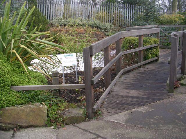 Water Garden & Bridge - Manor Heath Park, Halifax