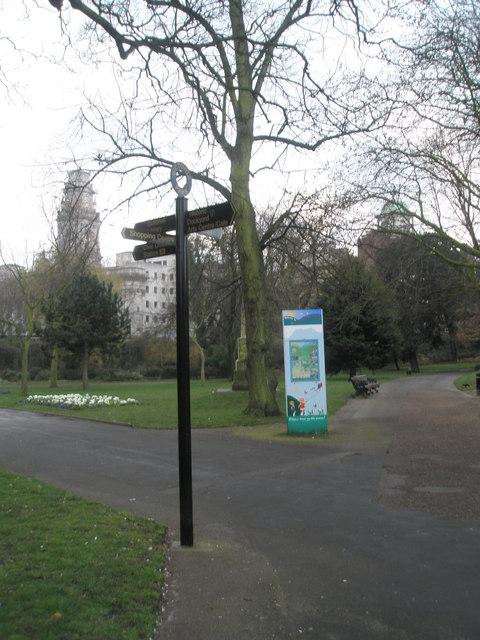Sign in Victoria Park