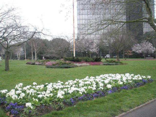 Flowerbed in Victoria Park