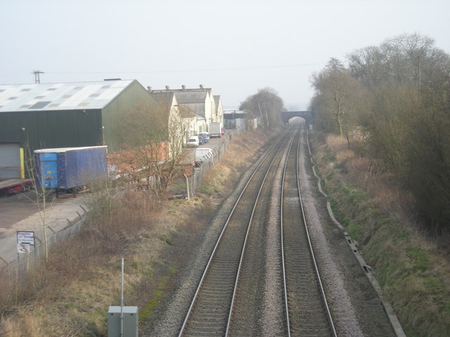 Railway line to Wolverhampton