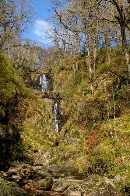 Waterfall near David Marshall Lodge, The Trossachs
