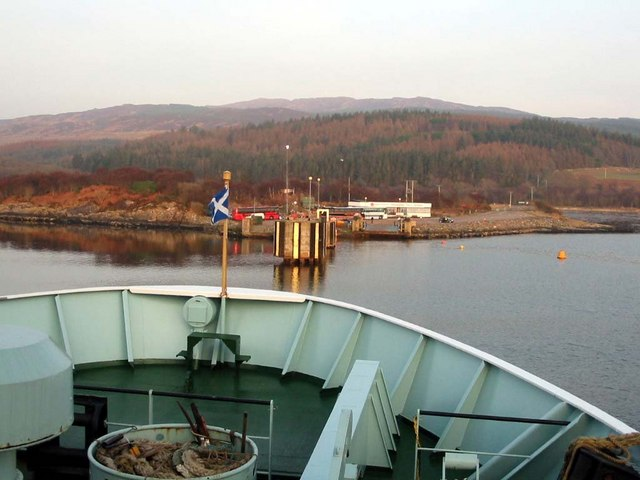 Ferry approaching Kennacraig