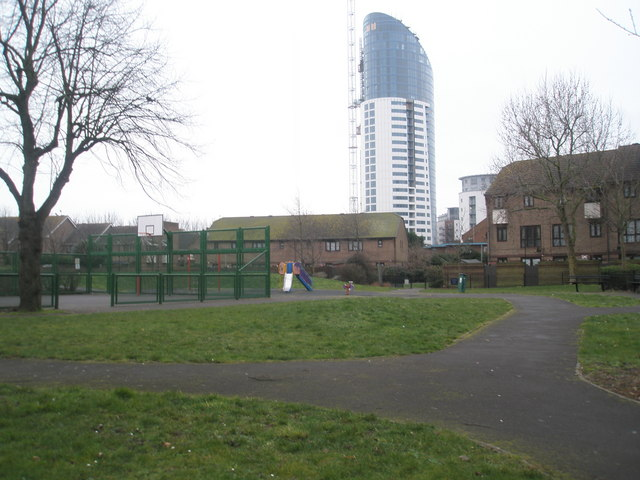 Children's play area opposite Sea Mills Gardens