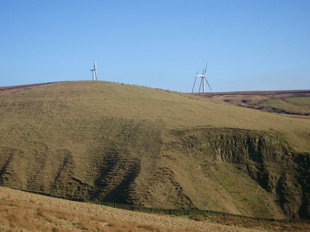 Scout Moor Wind Farm Tower No 10 under construction
