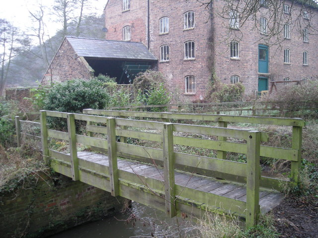 Rindleford footbridge &amp; watermill