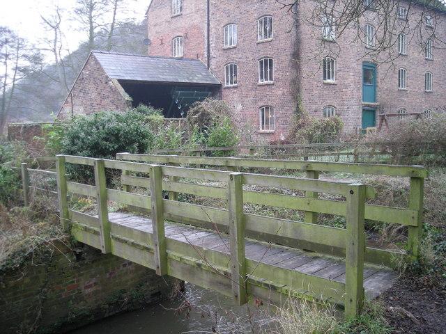 Rindleford footbridge & watermill