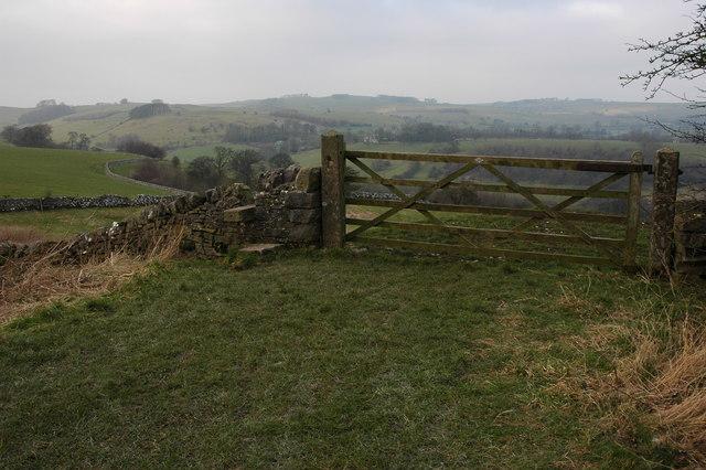 Gate beside the Tissington Trail